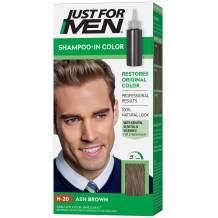 Just for Men Just for Men Shampoo-in Color (formerly Original Formula), Gray Hair Coloring for Men - Ash Brown, H-20, 1 count