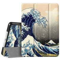"""Fintie Case for iPad 7th Generation 10.2 Inch 2019 - Lightweight Slim Shell Standing Hard Back Cover with Auto Wake/Sleep Feature for iPad 10.2"""" Tablet, Rough Sea"""