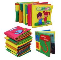 Smart Novelty Soft Cloth Books for Babies and Toddlers Colorful Soft Books for Early Child Development Great Baby Shower Toy Gift Nontoxic Fabric Crinkle Cloth Book Set of 6