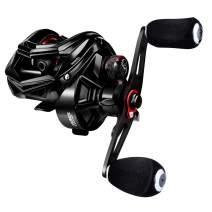 RUNCL Baitcasting Fishing Reel REMIEL, Baitcaster - Seamless Magnetic Brake System, 7.5:1 Gear Ratio, 10+1 Stainless Steel Ball Bearings, Sealed Drag, Lengthen Ergonomic Handle - Bass Fishing Reel