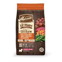 Merrick Lil' Plates Grain Free Real Texas Beef, Sweet Potatoes + Peas Recipe with Freeze Dry Dog Food