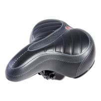 UNISTRENGH Comfortable Bike Seat for Men and Women - Oversize Bicycle Saddle with Safety Reflective Tape Soft Cushion Fit for Mountain Bike, Road Bicycle, Hybrid, Cruiser and Stationary Exercise Bike