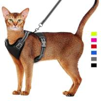 Cat Harness and Leash Set Escape Proof Kitten Harness Adjustable Cat Vest Harness with Reflective Strip Universal Cat Leash and Harness for Cats/Puppies Outdoor Walking