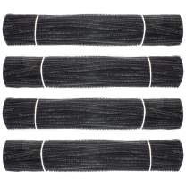 Waycreat 400 Pieces Pipe Cleaners Black Chenille Stem for DIY Art Craft Decorations (6mm x 12 Inch)