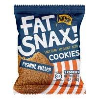 Fat Snax Cookies - Low Carb, Keto, and Sugar Free (Peanut Butter, 12-pack (24 cookies)) - Keto-Friendly & Gluten-Free Snack Foods