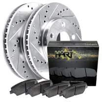 For 1995-1999 BMW M3 Rear HartBrakes Brake Rotors Kit+Ceramic Pads