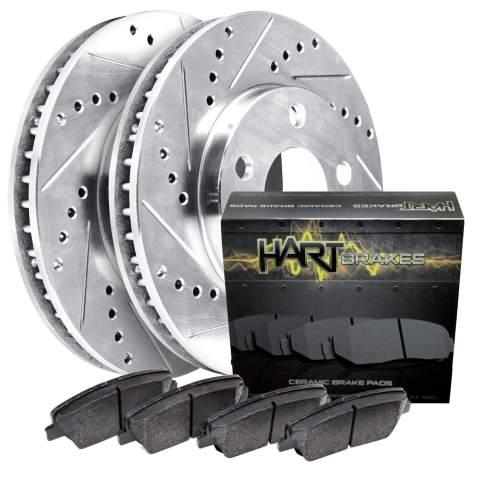 Front Rear Drill And Slot Brake Rotors /& Ceramic Pads For 2006 BMW 325i E90