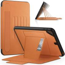 Timecity iPad Mini 5 Case, iPad Mini 5th Generation Case.Very Protective But Convenient Magnetic Stand + Smart Sleep/Wake + Elastic Pencil Pocket + Card Holder Cover for iPad Mini 4, Brown