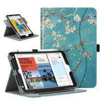 Fintie Case for iPad Mini 5 2019 / iPad Mini 4, 360 Degree Rotating Smart Stand Cover w/Pocket, Pencil Holder, Auto Sleep/Wake for New iPad Mini 5 / Mini 4, Blossom