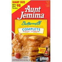 Aunt Jemima Pancake & Waffle Mix, Buttermilk Complete, 50 Serving Box (Packaging May Vary)