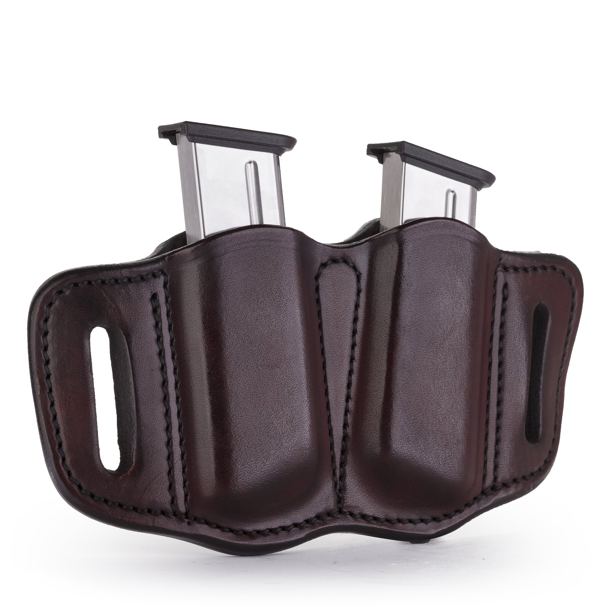 1791 GUNLEATHER 2.1 Mag Holster - Double Mag Pouch for Single Stack Mags, OWB Magazine Pouch for Belts - Classic Brown, Stealth Black, Black & Brown and Signature Brown