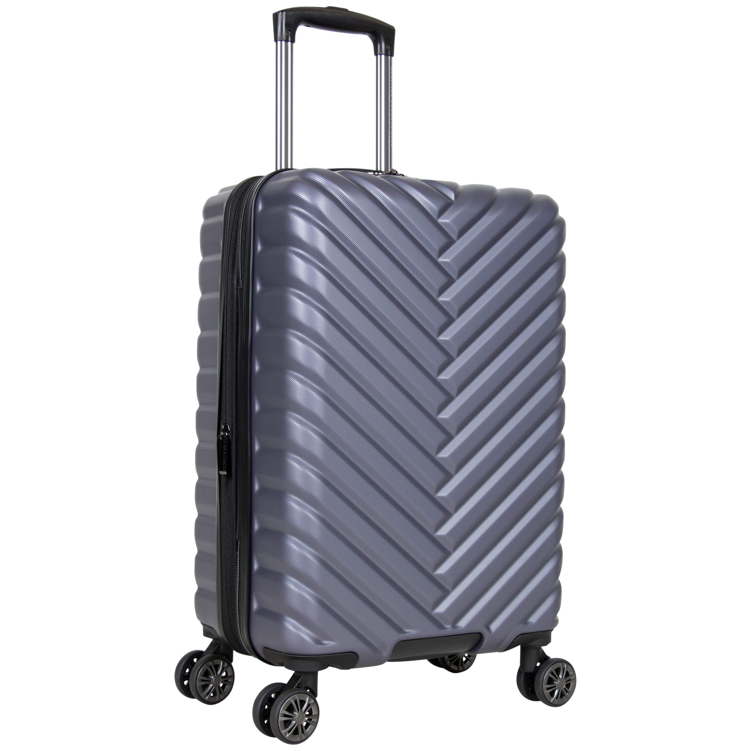 Kenneth Cole Reaction Women's Madison Square Hardside Chevron Expandable Luggage, Smokey Purple, 20-Inch Carry On