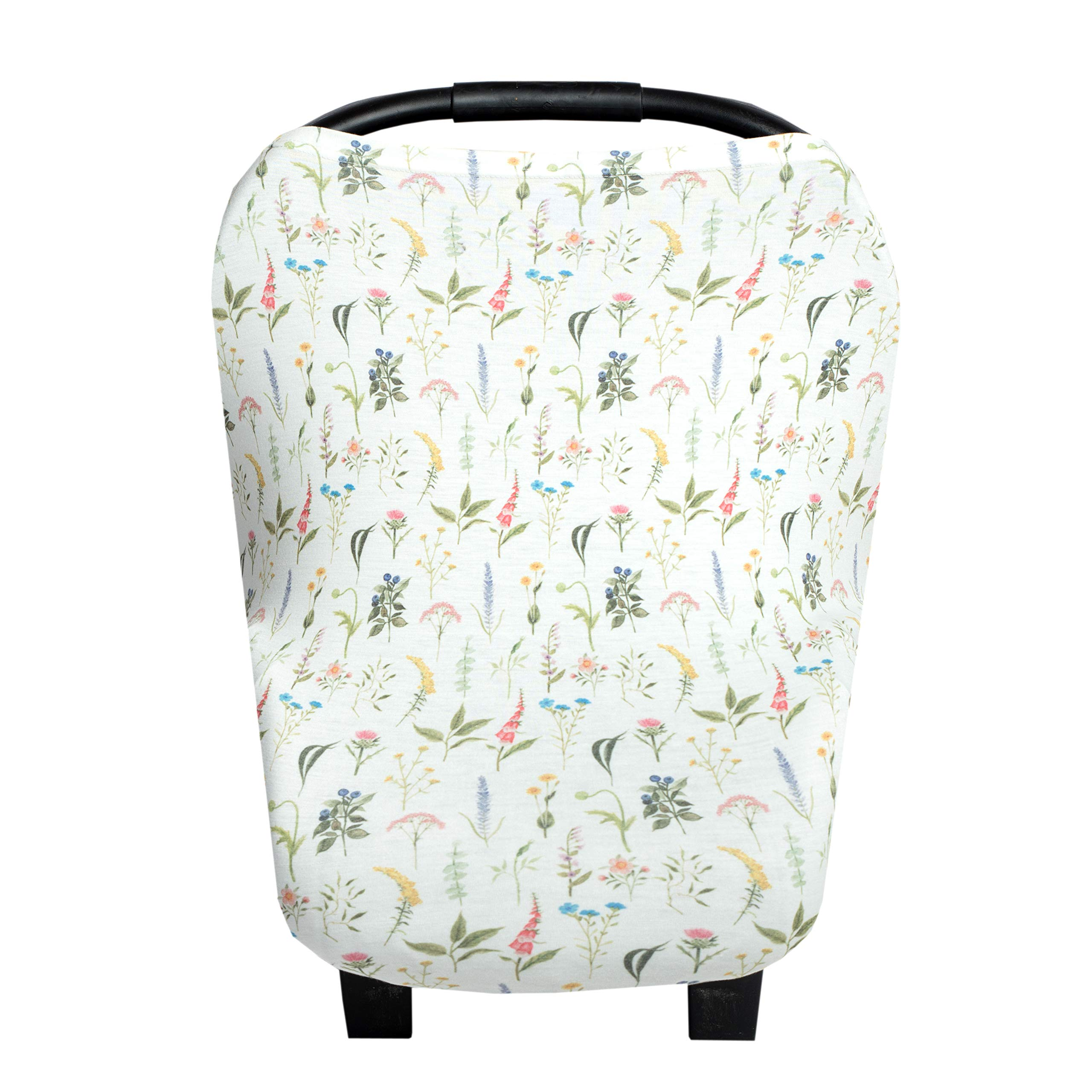 """Baby Car Seat Cover Canopy and Nursing Cover Multi-Use Stretchy 5 in 1 Gift""""Aspen"""" by Copper Pearl"""
