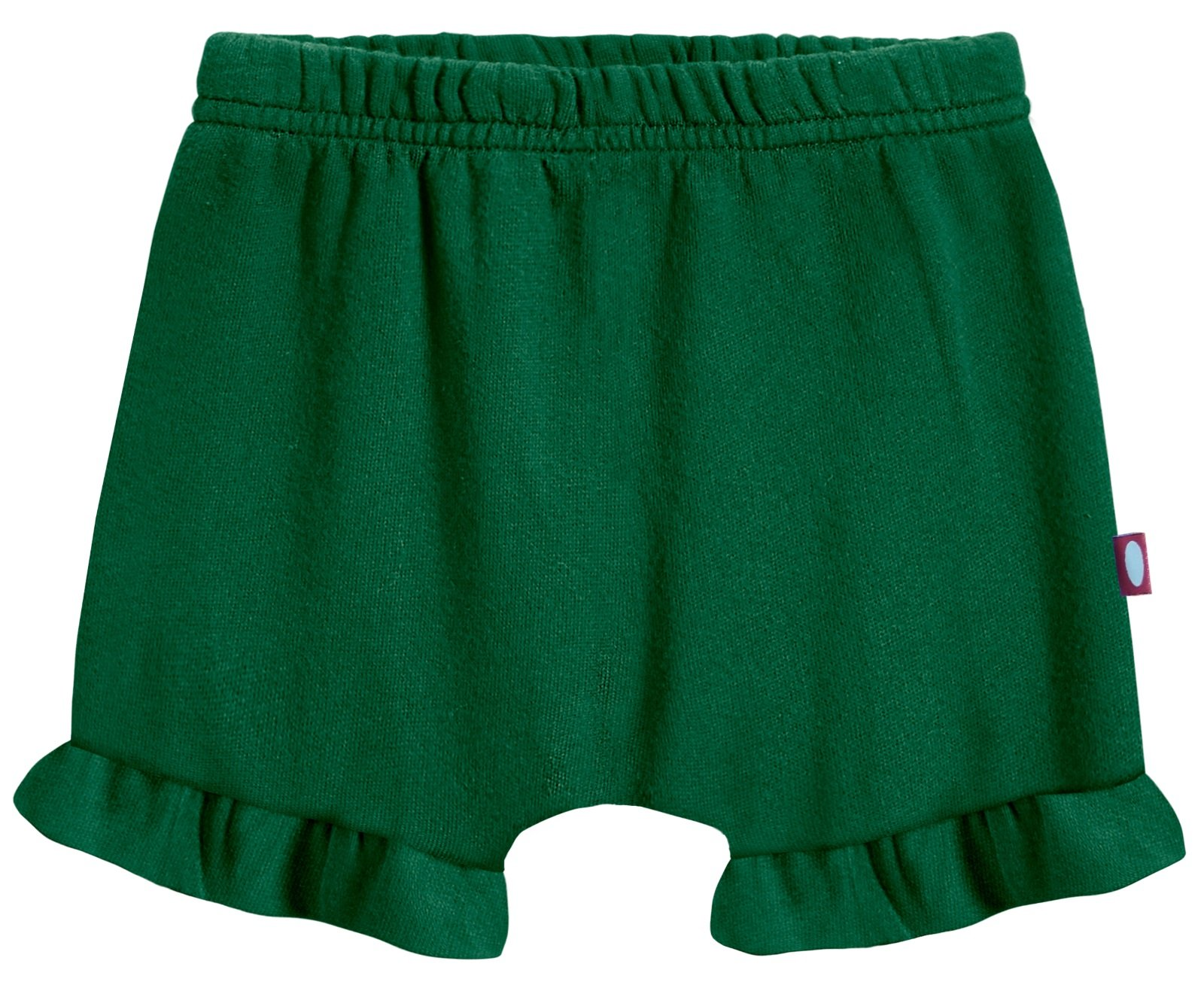 City Threads Baby Girls' and Boys' Ruffled Diaper Covers Bloomers Soft Cotton Fashionable Cute, Forest Green, 9-12Months