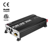Wagan EL3808 Pure Line Power Inverter 2000 Watt DC 12V to 110V AC Car Inverter ETL Certified