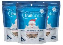 Fruitables 7 Ounce Crunchy Baked Dog Treats Vanilla Snowflake Flavor