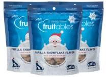 Fruitables 7 Ounce Crunchy Baked Dog Treats Vanilla Snowflake Flavor