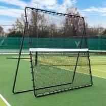 RapidFire Tennis Jumbo Rebounder [9ft x 7ft]   Adjustable Rebound Net – Groundstrokes & Volleying