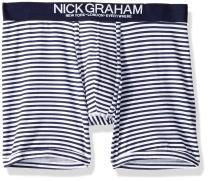 Nick Graham Men's Fashion Geo Pattern Cotton Boxer Brief | Fashionable, Comfortable, Reliable