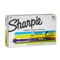 Sharpie 1754469 Accent Sharpie Pen-Style Highlighter, Purple, 12-Pack