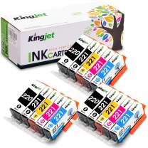 Kingjet Compatible Ink Cartridge Replacement for PGI-220 CLI-221 Work with PIXMA IP3600 IP4600 IP4700 MX860 MX870 MP560 MP620 MP620B MP640 MP980 MP990 PMFP1 PMFP3 SFP1 SFP2 Printer, (3SET)