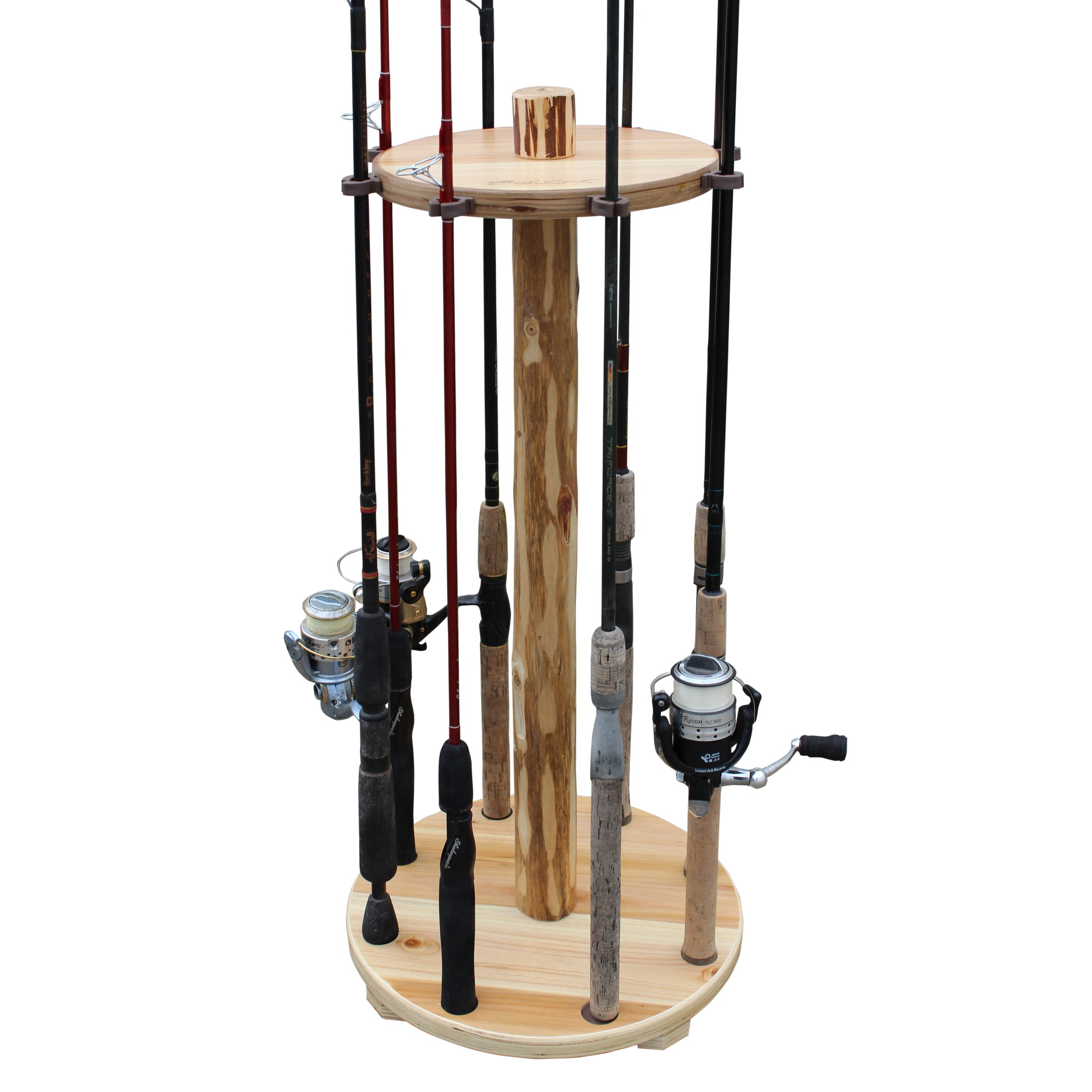 Rush Creek Creations Rustic Round 8 Fishing Rod Storage Rack