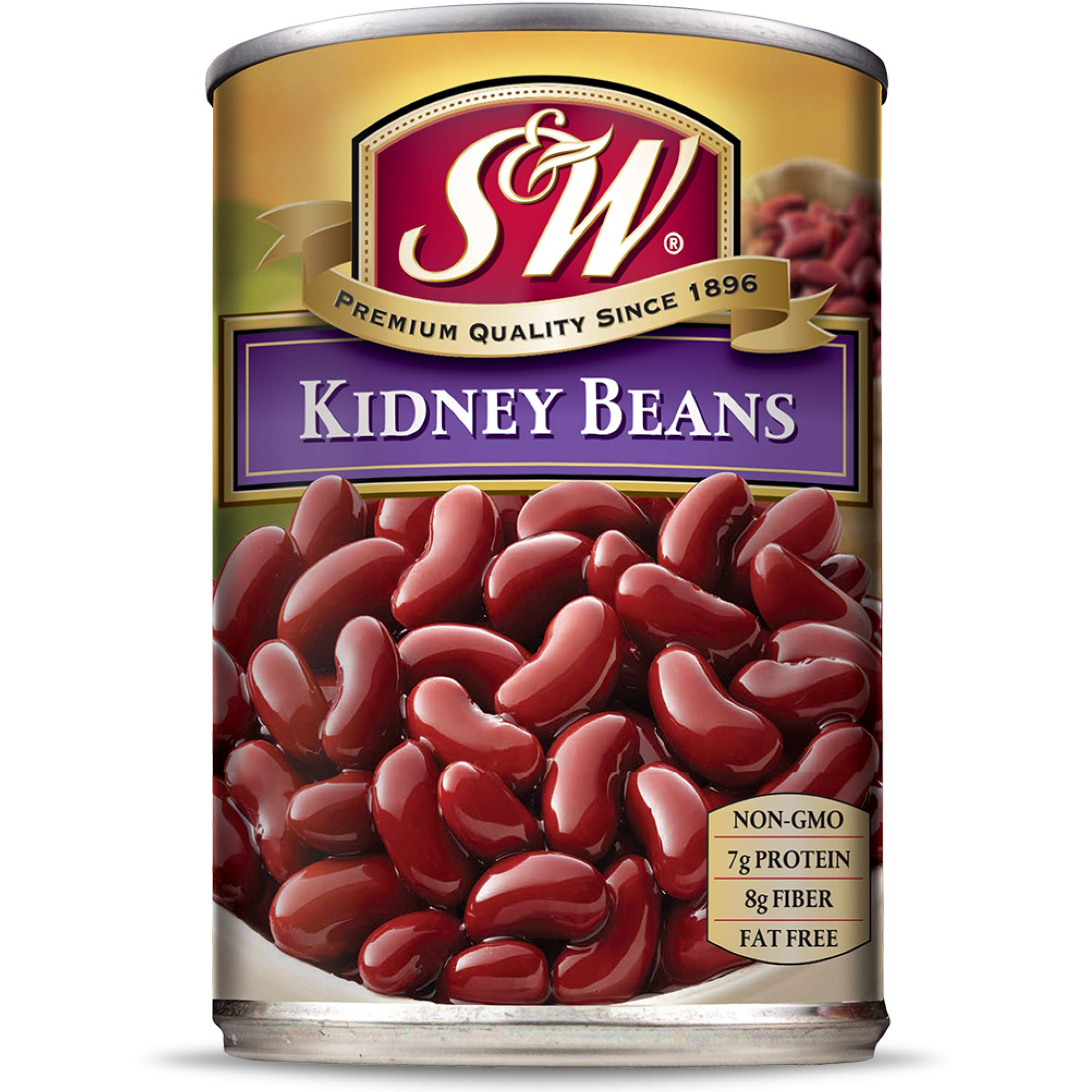 S&W - Dark Red Kidney Beans - Canned Beans - 15.5 Ounce Can (Pack Of 12)