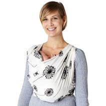 Baby K'tan Print Baby Wrap Carrier, Infant and Child Sling-Dandelion, Women 16-20 (Large), Men 43-46. Newborn up to 35 Pound Best for Babywearing.