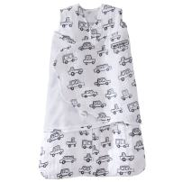 Halo 100% Cotton Muslin Sleepsack Swaddle Wearable Blanket, Navy Cars, Small