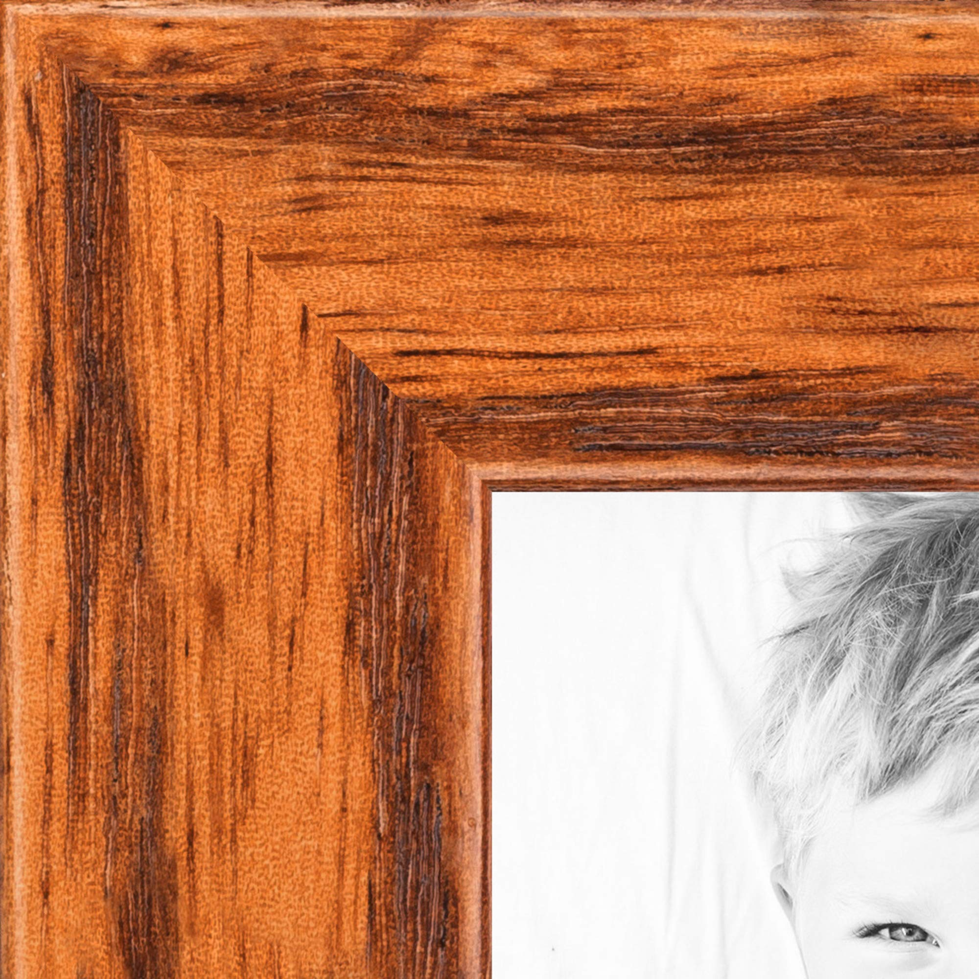 ArtToFrames 5x6 inch Honey on Red Oak Wood Picture Frame, 2WOM0066-1343-YHNY-5x6