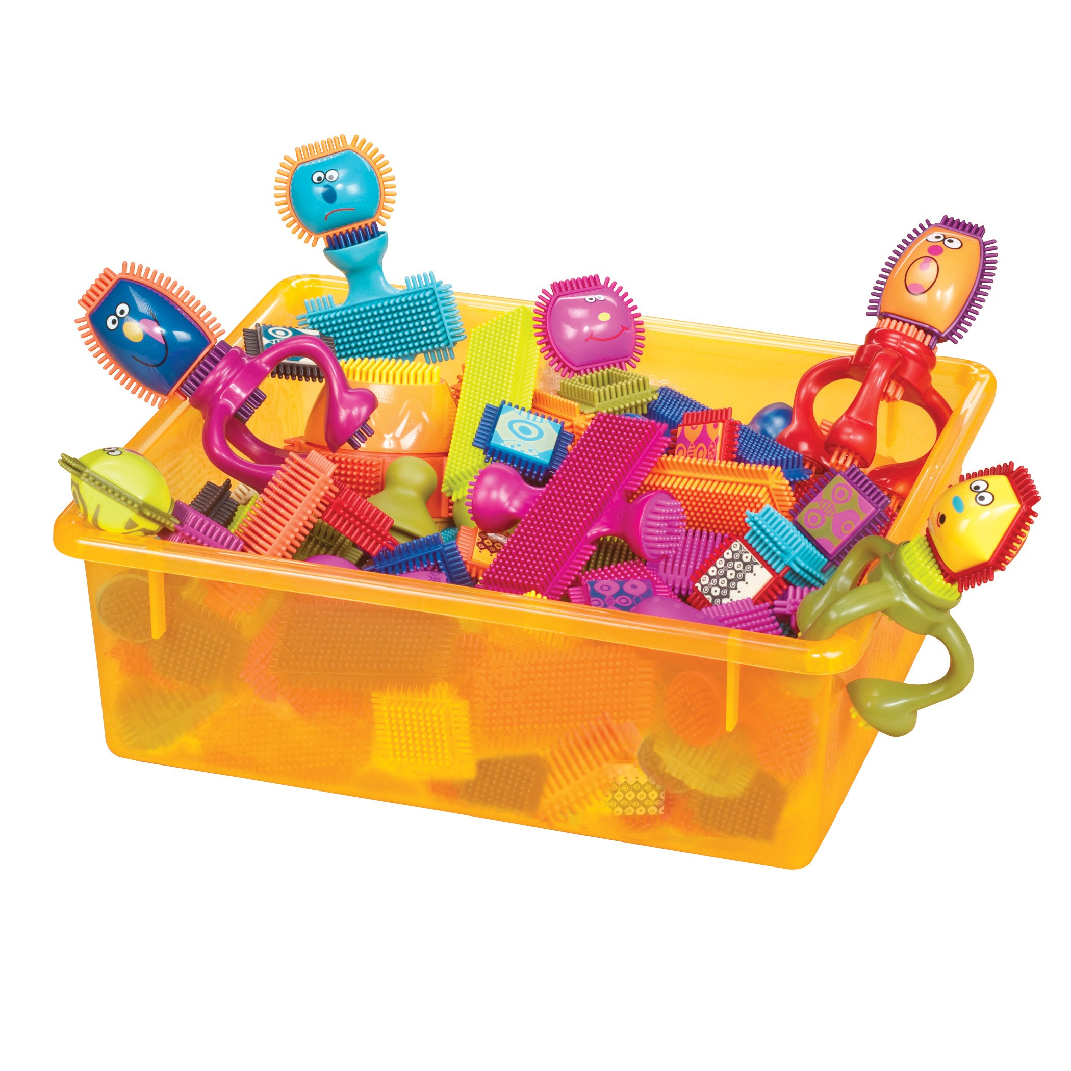 B. toys - Bristle Block Spinaroos - The Official Bristle Blocks - Toy Building Blocks for Toddlers (75Piece)