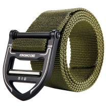 KingMoore Tactical Belt, Military Style Webbing Riggers Nylon Belt with Heavy-Duty Metal Buckle