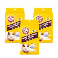 Arm & Hammer Super-Absorbent Cage Liners for Guinea Pigs, Hamsters, Rabbits & All Small Animals   Best Cage Liners for Small Animals, Control Pet Odors, 7 Count
