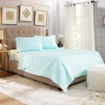 4 Piece Twin Sheets - Bed Sheets Twin Size – Bed Sheet Set Twin Size - 4 PC Sheets - Deep Pocket Twin Sheets Microfiber Twin Bedding Sets Hypoallergenic Sheets - Twin - Light Baby Blue