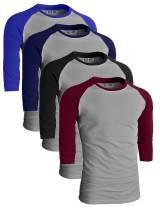 Sporty Two Tone Baseball Tee Shirt 3/4 Sleeve Raglan Matching Team Top