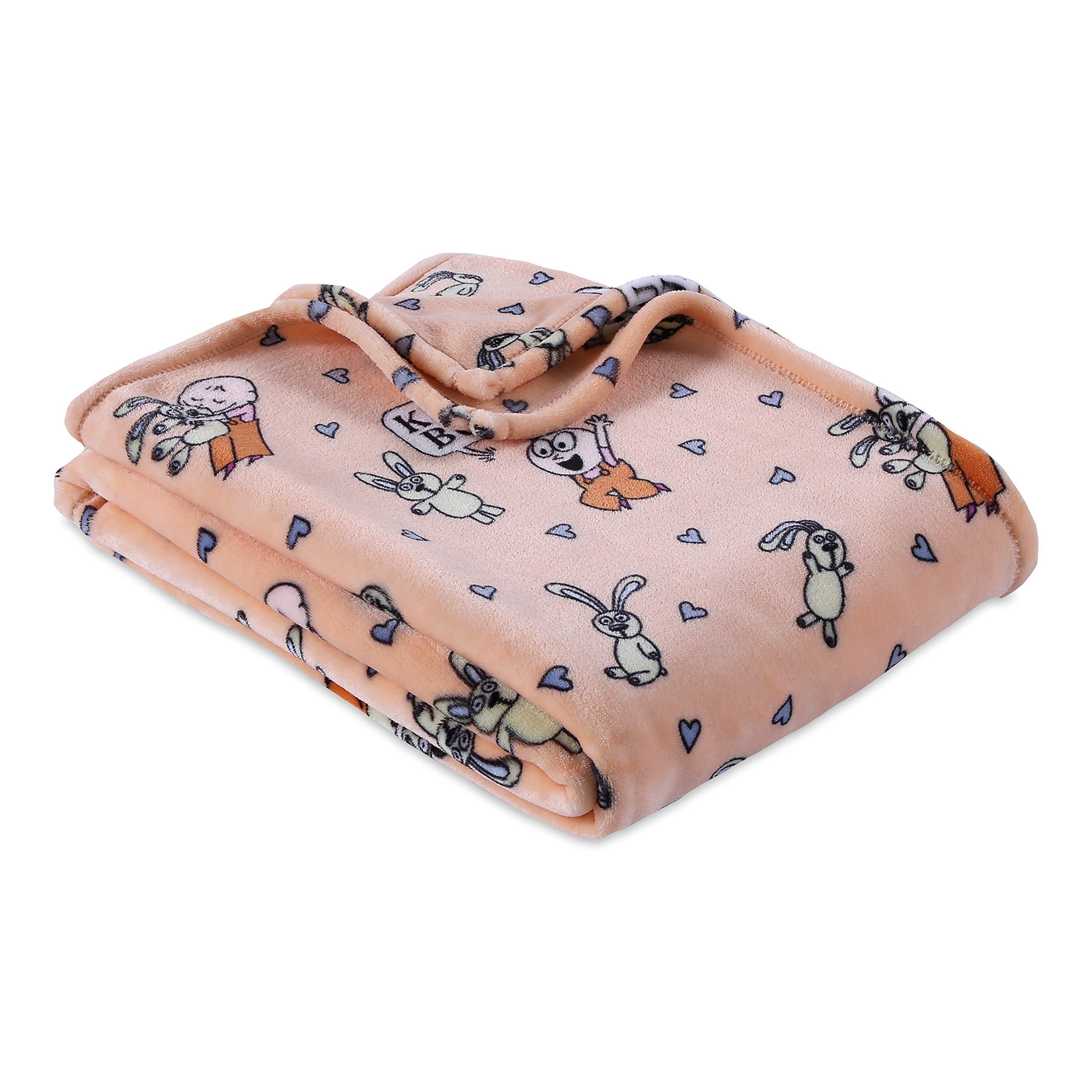 "Berkshire Blanket Mo Willems VelvetLoft Soft Cozy Plush Throw, Knuffle Bunny: A Cautionary Tale, 50"" x 70"""