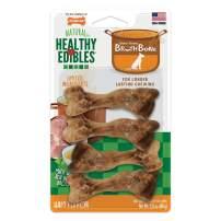 Nylabone Healthy Edibles Broth Bone All Natural Dog Treats Made with Real Bone Broth