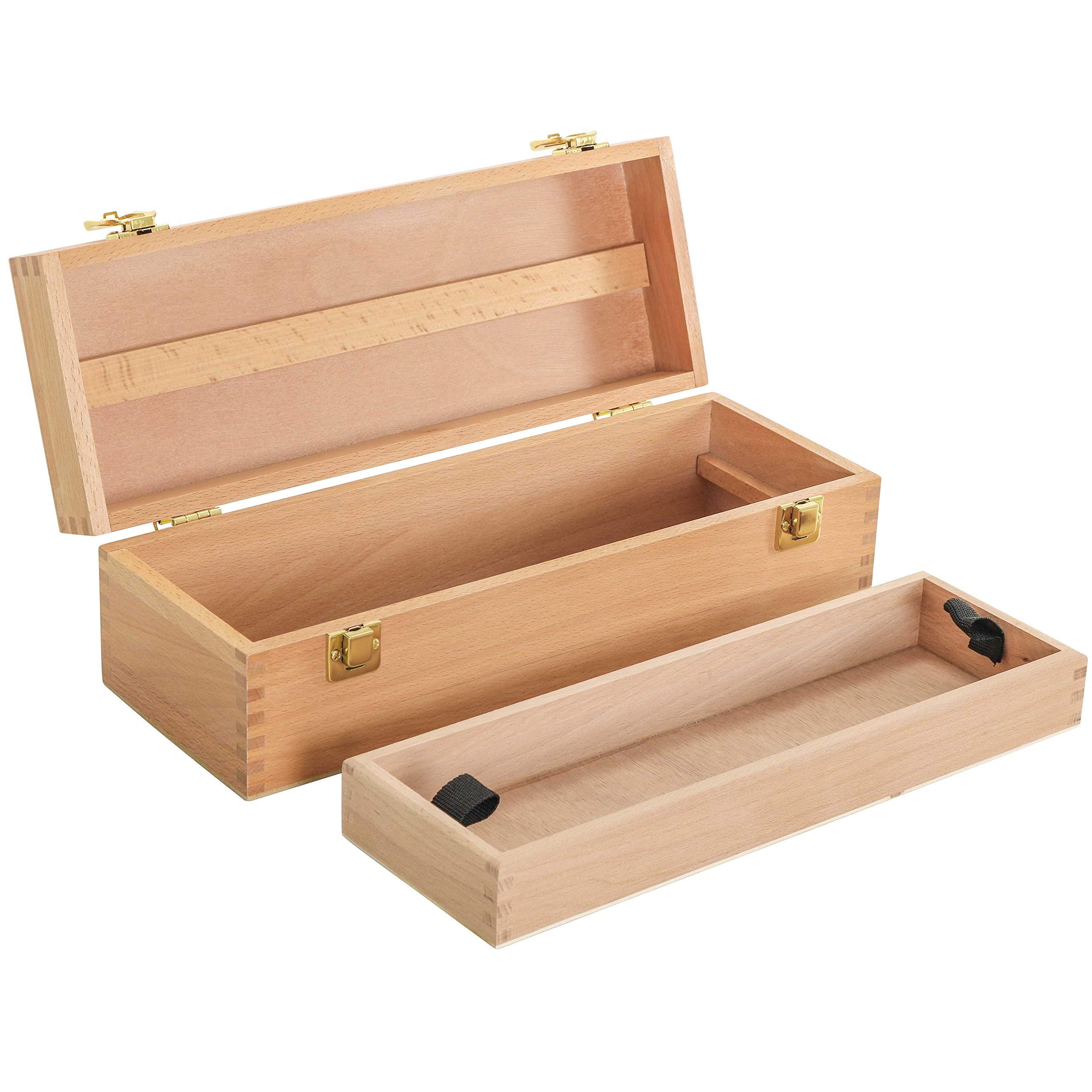 US Art Supply Artist Wood Pastel, Pen, Marker Storage Box with Drawer(s) (Medium Tool Box)
