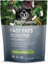 PlantFusion Fast Fats Booster Keto Energy Powder Drink for Ketosis & Energy   Ketogenic Diet Supplement with MCTs & Electrolytes Ideal for Athletic Performance & Sustained Energy Natural, 12 Packs