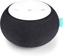 SNOOZ White Noise Sound Machine - Real Fan Inside for Non-Looping White Noise Sounds - App-Based Remote Control, Sleep Timer, and Night Light - Charcoal