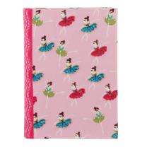 Classic Fabric Cover Notebook Journal Diary College Ruled Story Writing in Paper for Men Women & Girls with Bookmark Enclosed Perfect for Travel (8.5 in x 6 in)