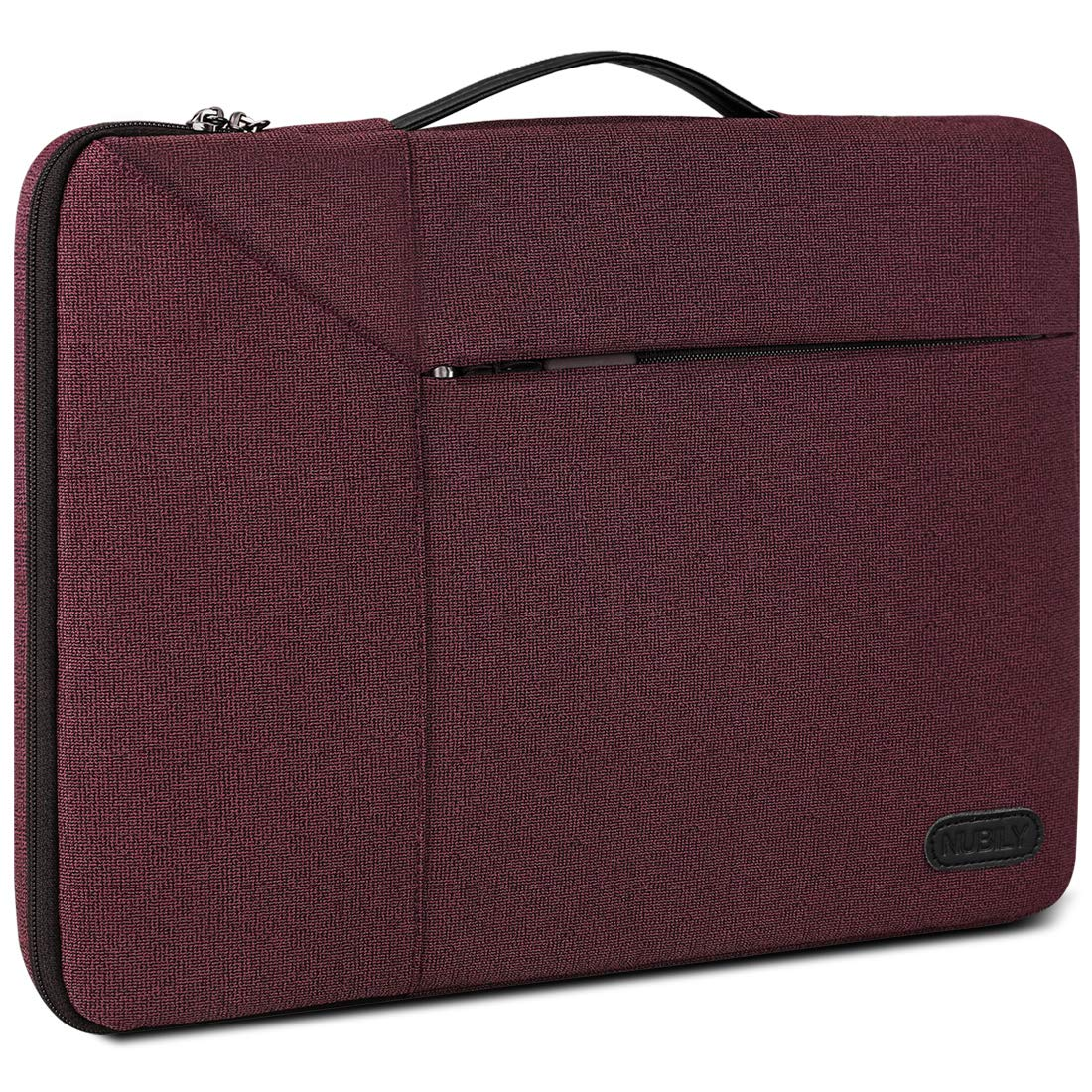 13-14 Inch Laptop Sleeve Case Waterproof 360 Protective Laptop Sleeve Bag Work Business Computer Case for 13 Inch MacBook Air/Pro Notebook Portable Handle Laptop Bag,Wine Red