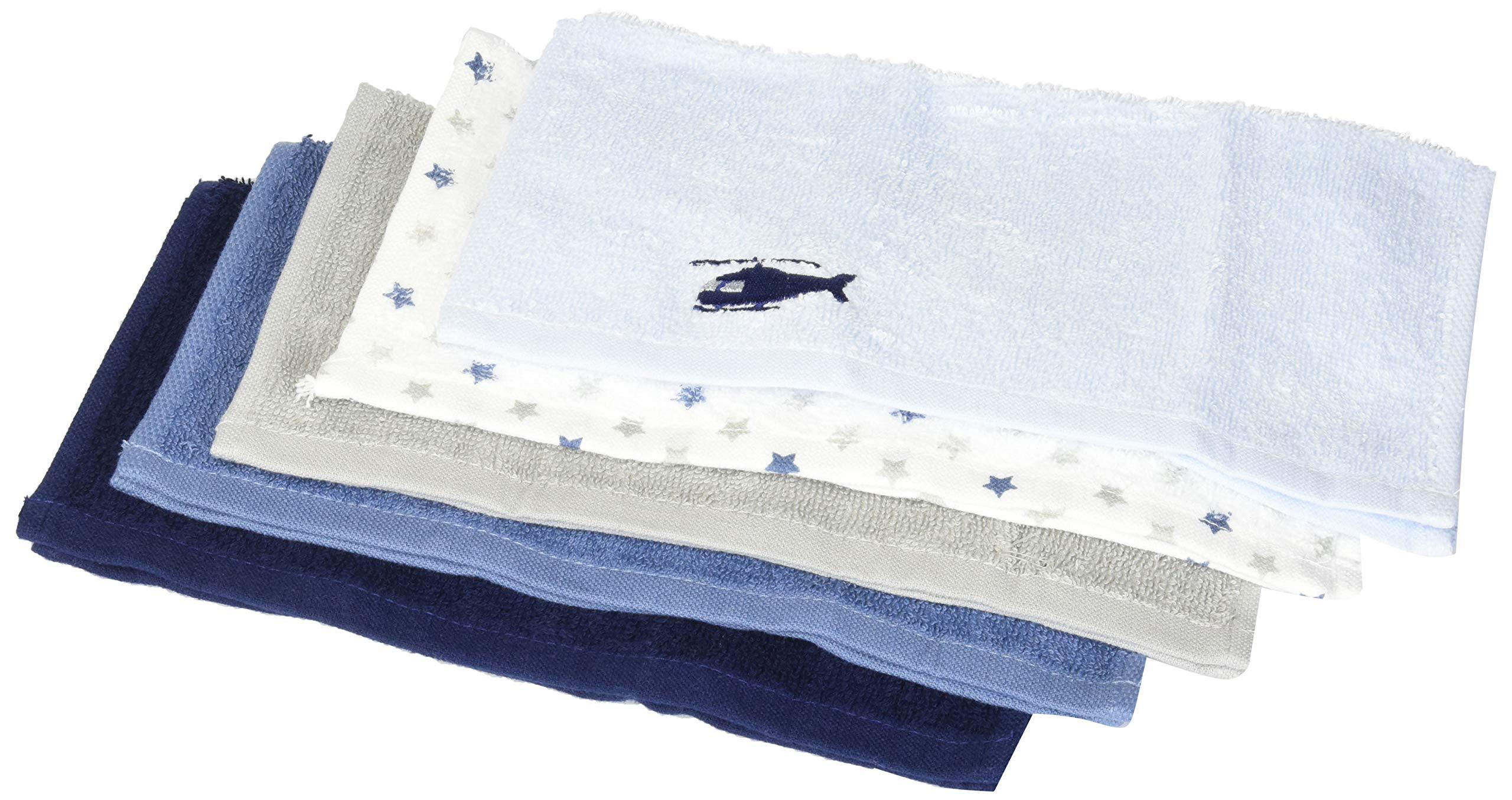 Hudson Baby Unisex Baby Super Soft Cotton Washcloths, Helicopter, One Size