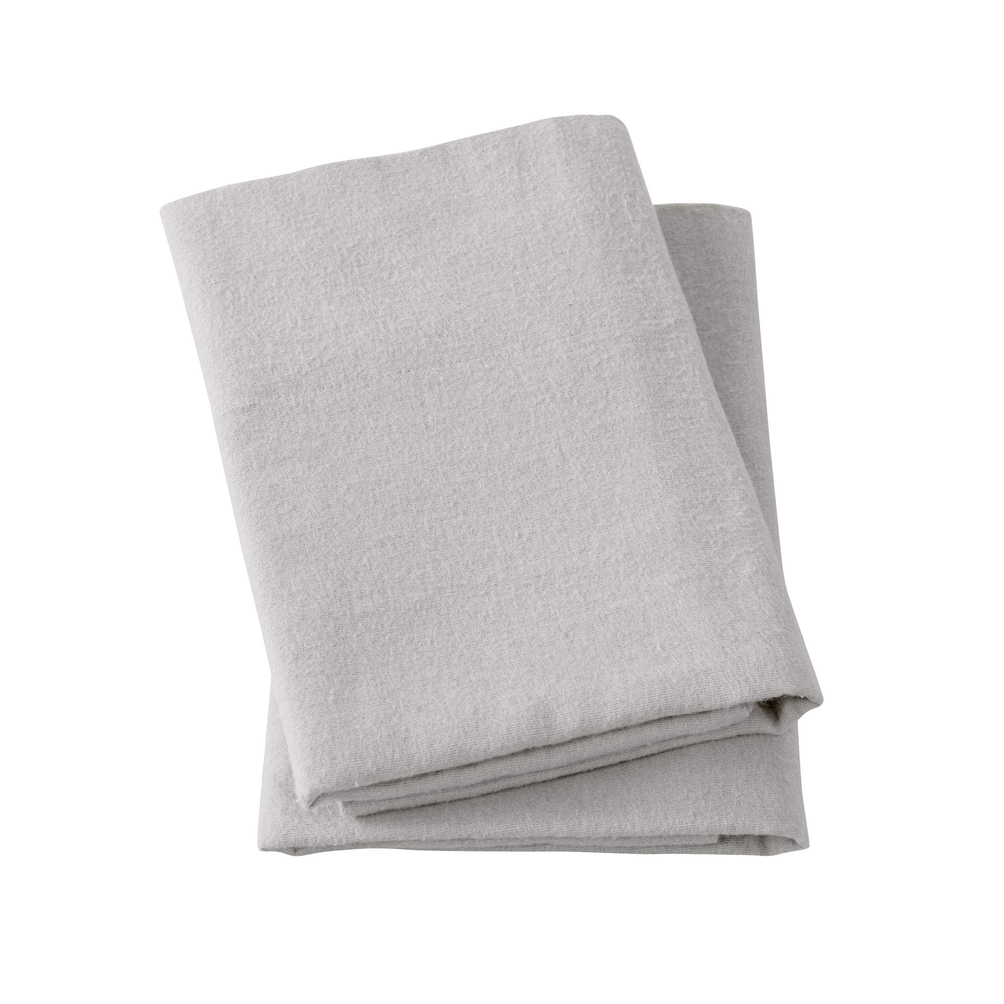 Extra Soft 100% Turkish Cotton Flannel Pillowcase Set. Warm, Cozy, Lightweight, Luxury Winter Bed Pillowcases in Solid Colors. Nordic Collection (Standard, Light Grey)