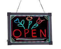 "Alpine Industries LED Illuminated Hanging Message Writing Board (12"" x 16"")"