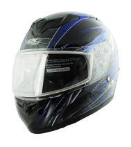 Vega Insight Snow Full Face Helmet with Razor Graphic (Blue, X-Small)