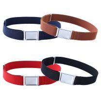 4PCS Kids Boys Adjustable Magnetic Belt - Elastic Belt with Easy Magnetic Buckle