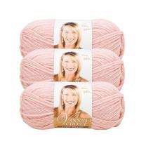 (3 Pack) Lion Brand Yarn 860-101A Vanna's Choice Yarn, Pink