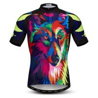 Men's Cycling Jersey Short Sleeved Outdoor Pro Biking Riding Clothing Mountain Bicycle Jerseys Breathable Skull T- Shirt Tops