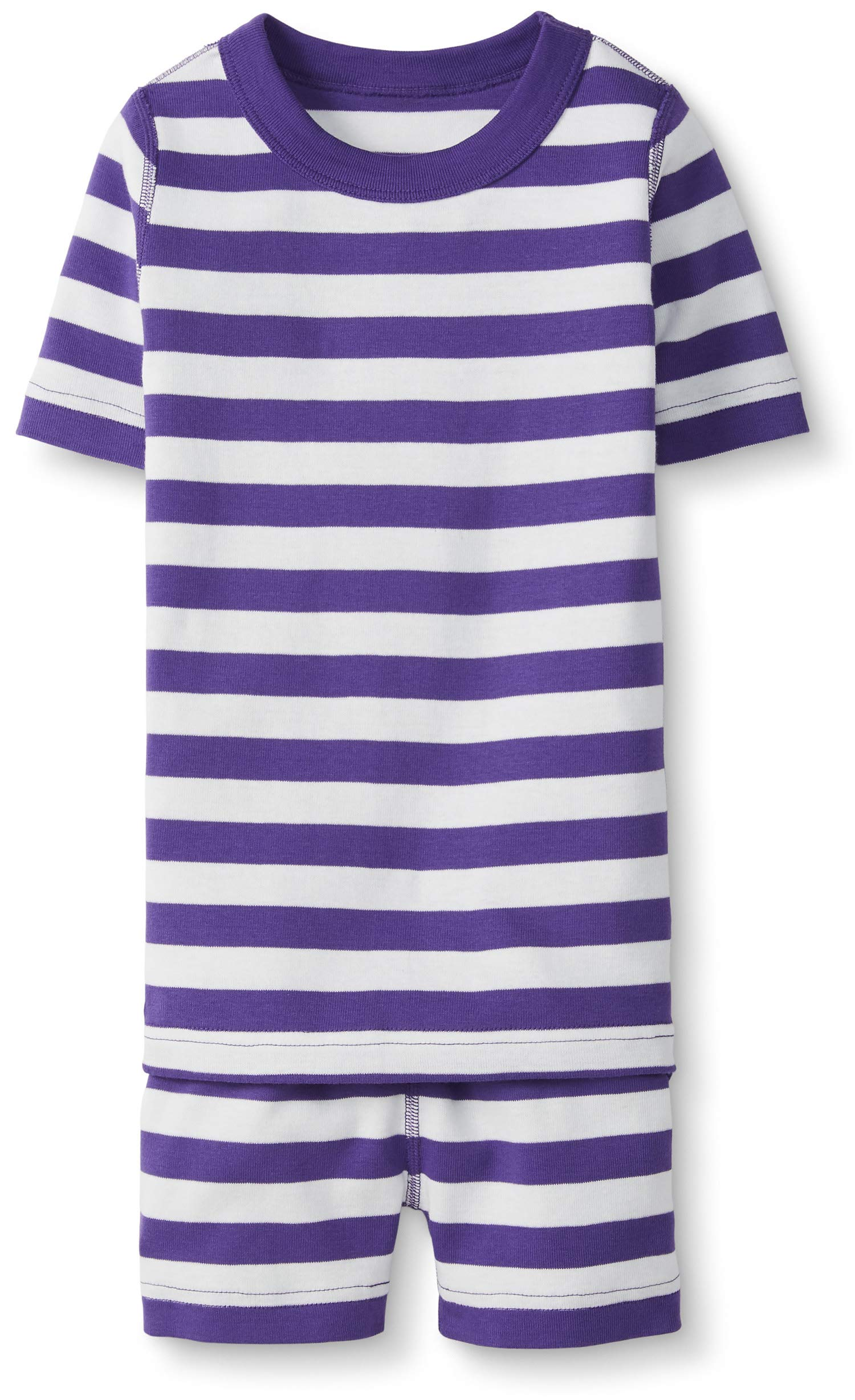 Hanna Andersson Kids Short Sleeved Pajamas in Organic Cotton, Purple Hills/Hanna White, Size 130 cm